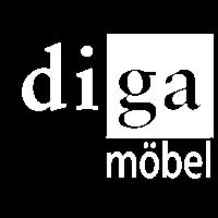 Diga Möbel Logo Weiss